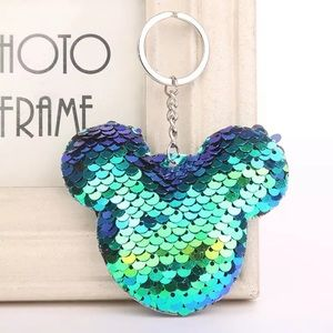 Accessories - Mickey purse charm keychain sequins  NEW